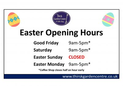Easter Weekend Opening Hours