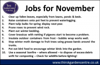 November Jobs for the Month