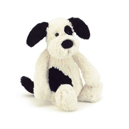 Bashful Puppy Black & Cream Medium