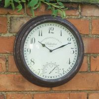 Bickerton Wall Clock & Thermometer 12in - image 2