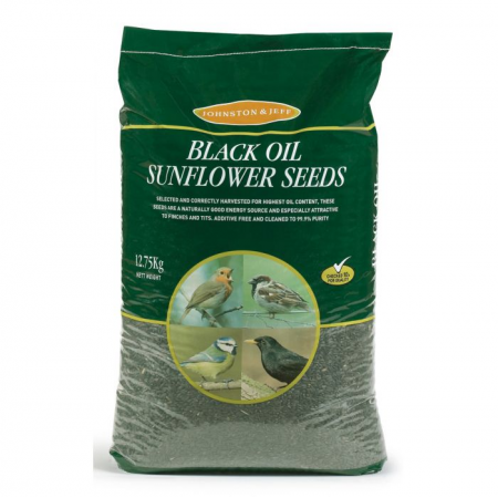 Johnston & Jeff Wild Bird Black Sunflower Seed 12.75kg
