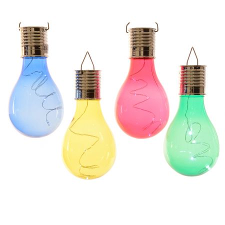 LED Solar Bulb - Blue/Pink/Yellow/Green