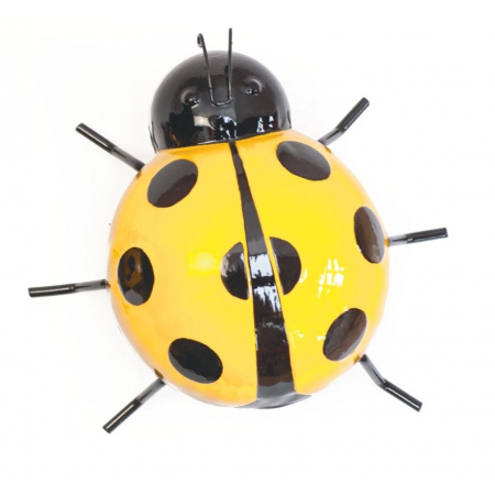 Metal Wall Art Ladybird Yellow Medium Fountasia