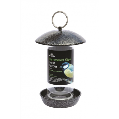 Hammered Steel 2-port Seed Feeder