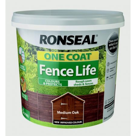 Ronseal Fencelife Medium Oak 4Lt + 25% Extra
